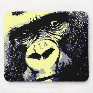 Retrato del gorila tapete de ratón