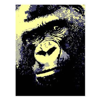 Retrato del gorila postales