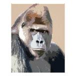 Retrato del gorila tarjeta publicitaria