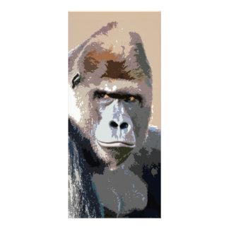 Retrato del gorila tarjeta publicitaria a todo color