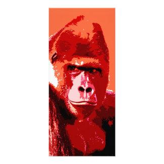 Retrato del gorila tarjetas publicitarias