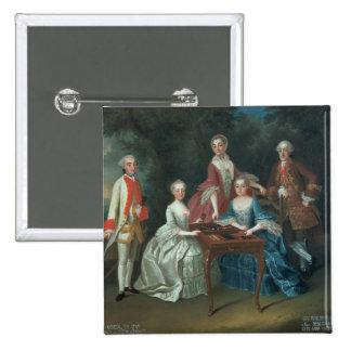 Retrato del grupo de jugar de la familia de Harrac Pin