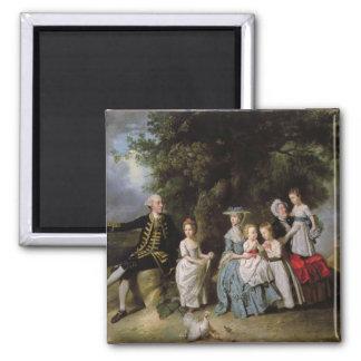 Retrato del grupo de la familia de Colmore Imanes De Nevera