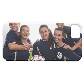 retrato del grupo de los jugadores de fútbol funda para iPhone SE/5/5s