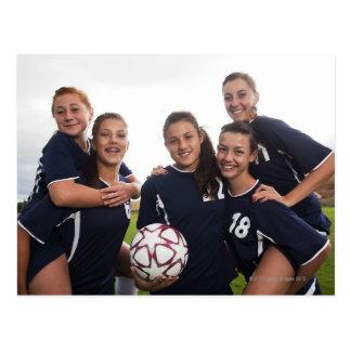retrato del grupo de los jugadores de fútbol postales