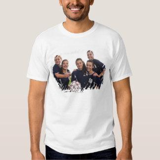 retrato del grupo de los jugadores de fútbol remera