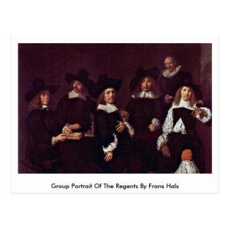 Retrato del grupo de los regentes de Francisco Hal Tarjeta Postal