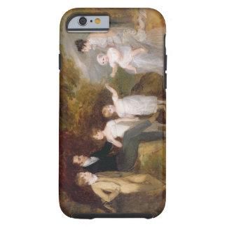Retrato del grupo en un paisaje enselvado funda resistente iPhone 6