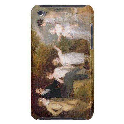 Retrato del grupo en un paisaje enselvado iPod touch Case-Mate fundas