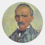 Retrato del guarda principal - Van Gogh Pegatina Redonda