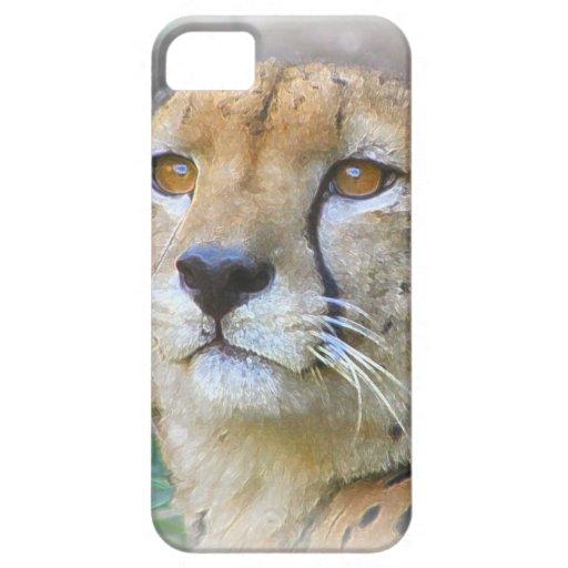 Retrato del guepardo iPhone 5 cárcasa
