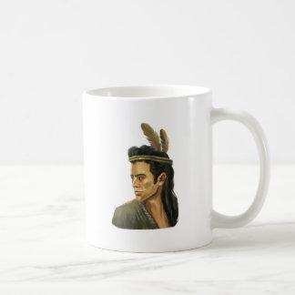 Retrato del guerrero del Mohican Taza De Café