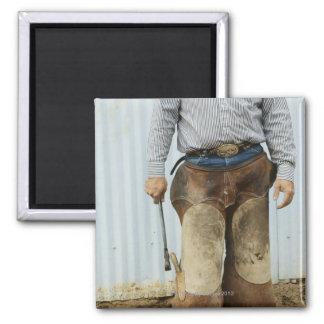 Retrato del herrero del vaquero imán cuadrado