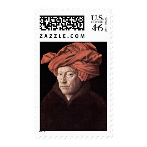 Retrato del hombre con el turbante, por Eyck enero Franqueo
