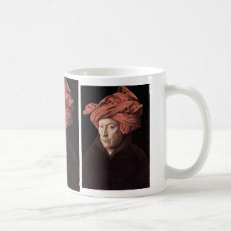 Retrato del hombre con el turbante, por Eyck enero Tazas De Café