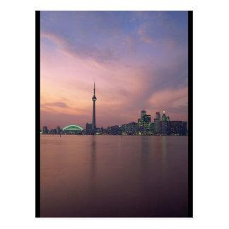 Retrato del horizonte de Toronto Tarjetas Postales