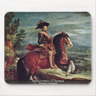 Retrato del intravenoso de Philip a caballo Alfombrillas De Raton