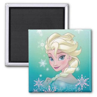 Retrato del invierno de Elsa el | Imán Cuadrado