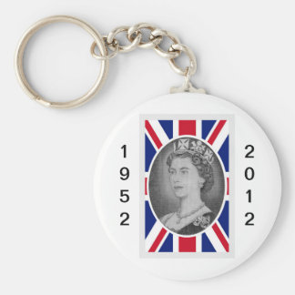 Retrato del jubileo de la reina Elizabeth Llavero Redondo Tipo Pin