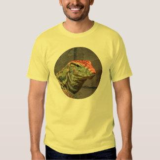 Retrato del lagarto de monitor remera
