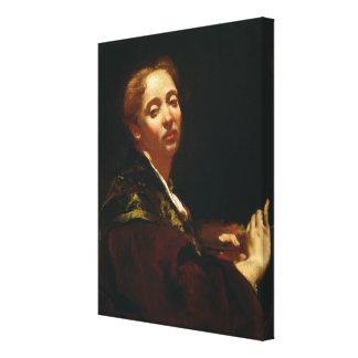 Retrato del lama de Julia (fl.1728) Impresión En Tela