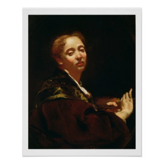 Retrato del lama de Julia (fl.1728) Póster