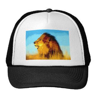 Retrato del león gorras de camionero
