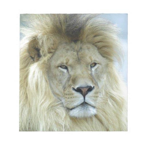 Retrato del león libretas para notas