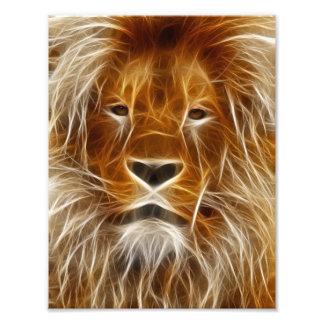 Retrato del león arte con fotos