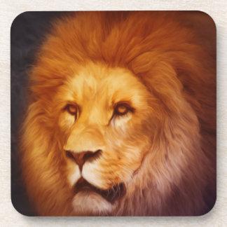 Retrato del león posavasos