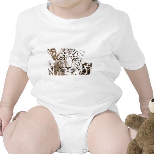 Retrato del leopardo camisetas
