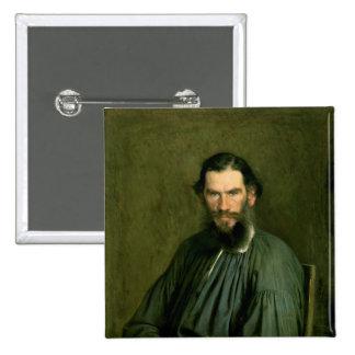 Retrato del lev Nikolaevich Tolstoy 1873 de la cue Pin Cuadrada 5 Cm