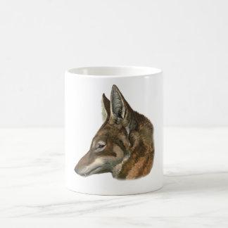 Retrato del lobo abisinio taza