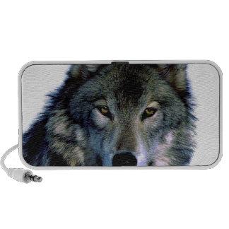 Retrato del lobo mp3 altavoces