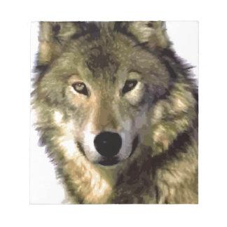 Retrato del lobo blocs de papel