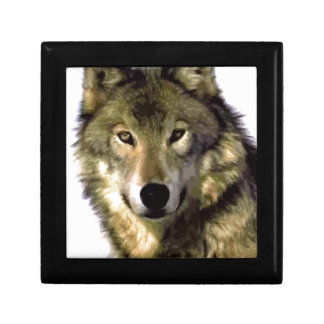 Retrato del lobo caja de recuerdo