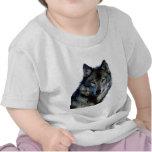 Retrato del lobo camisetas
