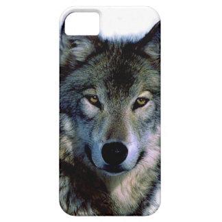 Retrato del lobo iPhone 5 fundas