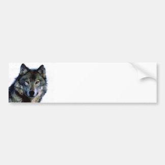 Retrato del lobo pegatina para auto