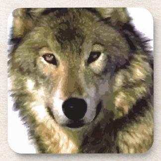 Retrato del lobo posavasos