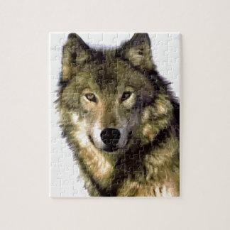 Retrato del lobo puzzle con fotos