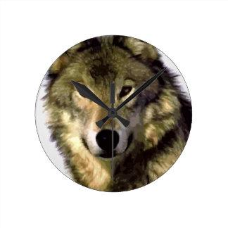 Retrato del lobo reloj