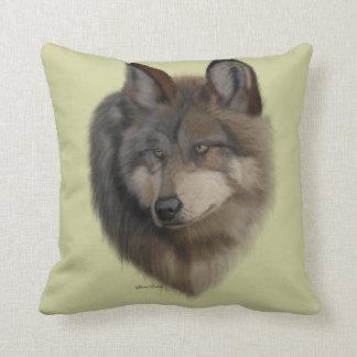 Retrato del lobo - tiro del amortiguador cojin