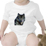 Retrato del lobo traje de bebé