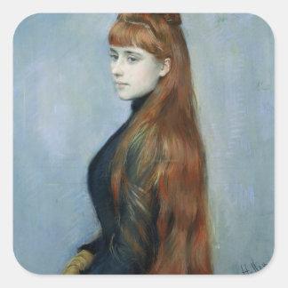Retrato del Mademoiselle Alicia Guerin Colcomania Cuadrada