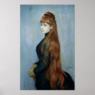 Retrato del Mademoiselle Alicia Guerin Póster