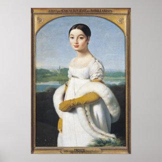 Retrato del Mademoiselle Caroline Riviere 1805 Posters