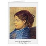 Retrato del Mademoiselle Dobigny de Edgar Degas Felicitaciones
