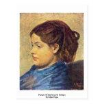 Retrato del Mademoiselle Dobigny de Edgar Degas Postales