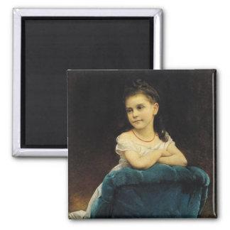 Retrato del Mademoiselle Franchetti, 1877 Imán Cuadrado